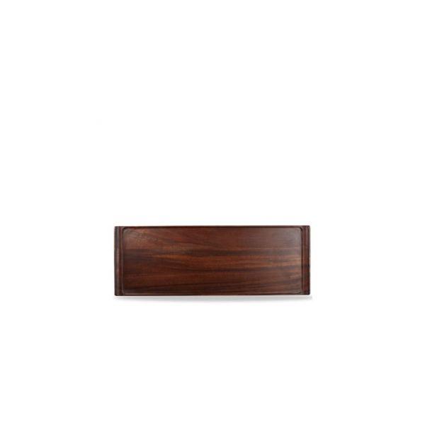 Holz-Brett eckig 58x20cm ACACIA WOOD