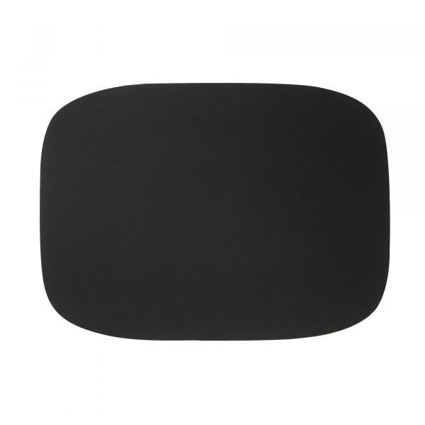 Tischset oval 33x45cm Kunstleder LAV schwarz