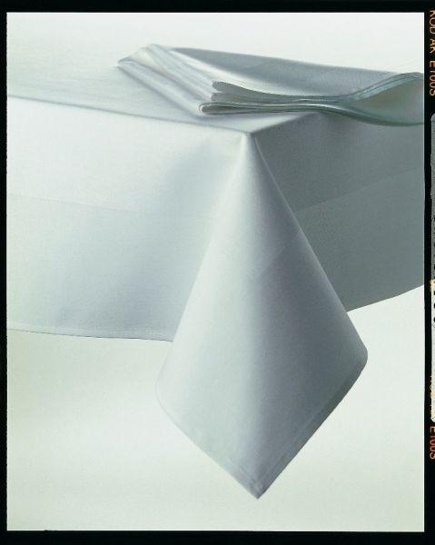 Tischdecke 130x130 cm weiß Atlaskante
