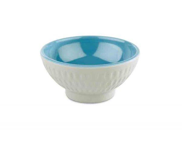 Schale ASIA PLUS D:7,5cm H:3,5cm blau grau