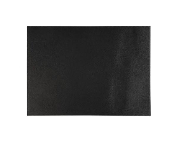 Tischset KUNSTLEDER Schwarz 45 x 32,5 cm