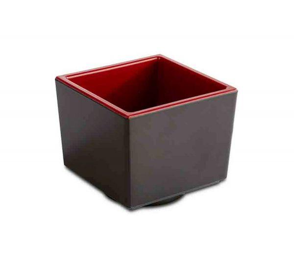Bento Box ASIA PLUS schwarz/rot 7,5x7,5cm H:6,5cm