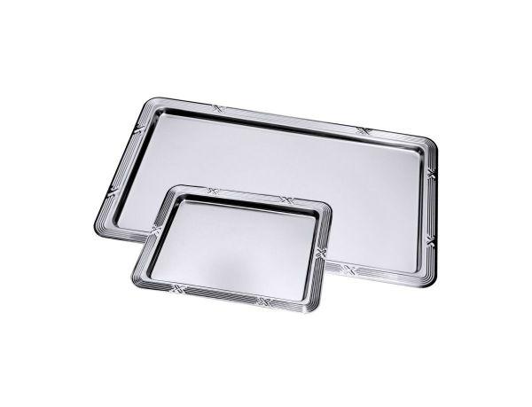 GN-Tablett mit Dekorrand L: 32,5 cm B: 26,5 cm H: 1,5 cm, GN: 1/2