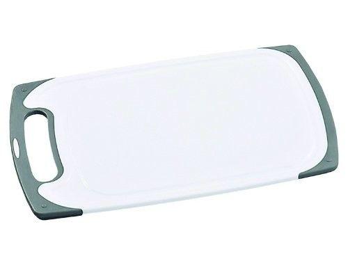 Schneidbrett L: 315mm B: 200mm H: 10cm weiß/grau