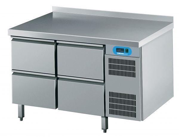 Umluft-Kühltisch 4 Schubladen steckerfertig 230V B 1250 T 700 H 850