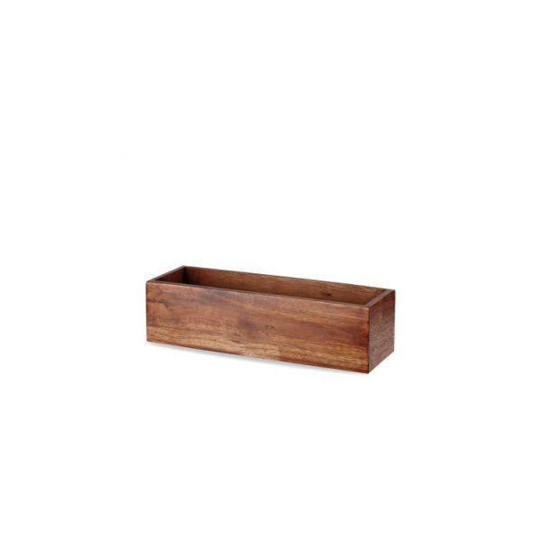 Holz-Box eckig 56x18x20cm ACACIA WOOD