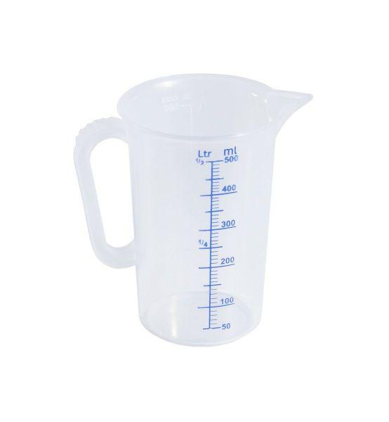 Messbecher 0,5l Messskala in 10 ml Schritten