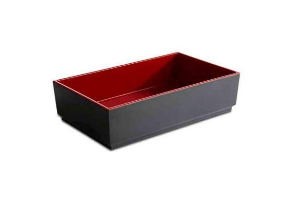 Bento Box ASIA PLUS 25x15,5cm H:6,5cm schwarz, rot