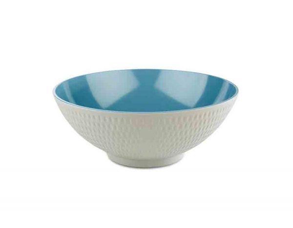 Schale ASIA PLUS D:32,5cm H:12,5cm blau, grau