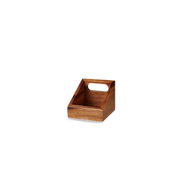 Holz-Box eckig 10x12cm ACACIA WOOD