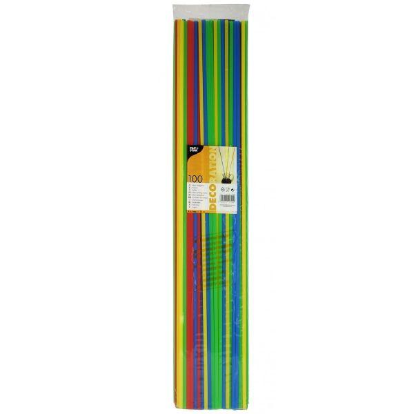 100 Stück Trinkhalme Ø 6,5mm/75cm farbig sortiert