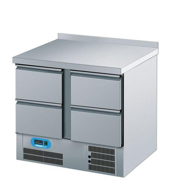 Umluft-Kühltisch 4 Schubladen steckerfertig 230V B 950 T 700 H 850