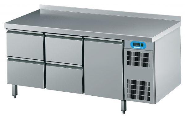 Umluft-Kühltisch 1 Türen 4 Schubladen steckerfertig 230V B 1725 T 700 H 850