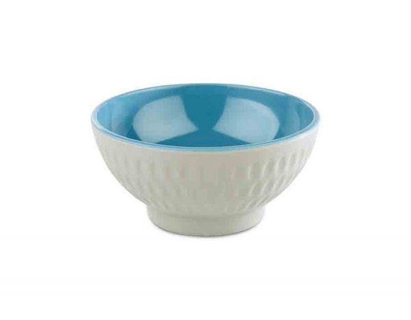Schale ASIA PLUS D:9,5cm H:4,5cm blau, grau