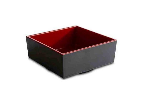 Bento Box ASIA PLUS 15,5x15,5cm H:6,5cm schwarz, rot