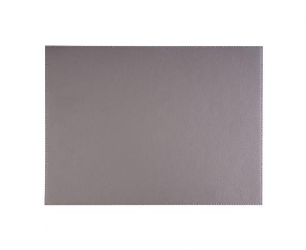 Tischset KUNSTLEDER Grau 45 x 32,5 cm