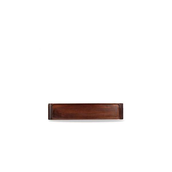Holz-Brett eckig 46x10cm ACACIA WOOD