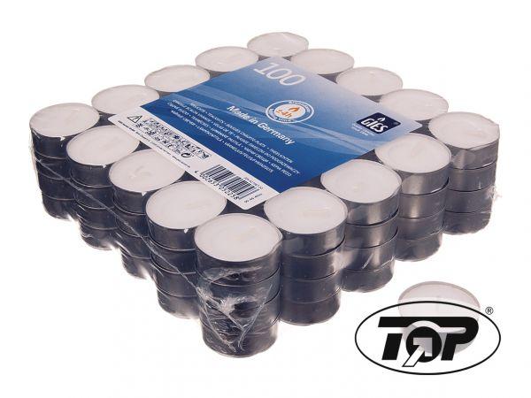 40 Stück Teelichter in Metallhülse Brenndauer: ca.6h