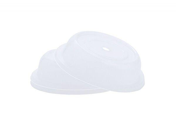 Tellerglocke transparent-weiß für Teller bis D: 22cm H: 6cm