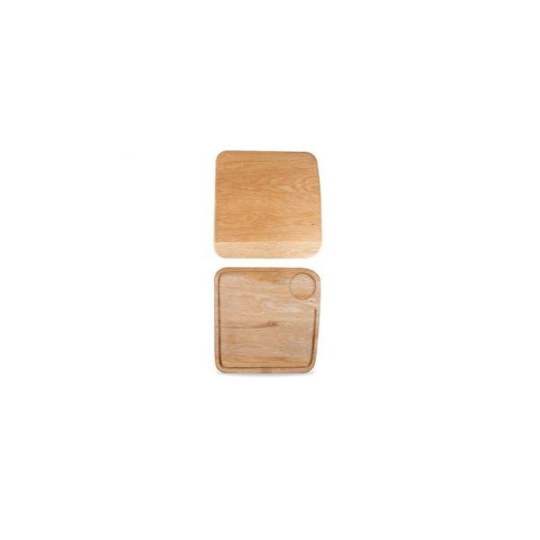 Holz-Brett eckig 29x29 OAK WOOD