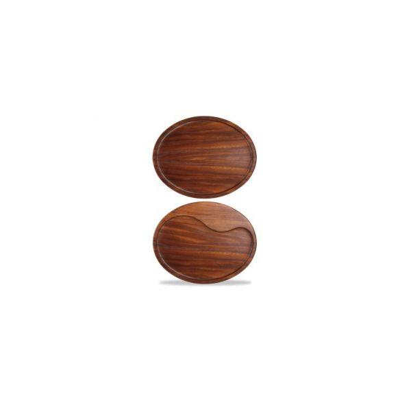 Servierbrett oval 30x23cm ACACIA WOOD