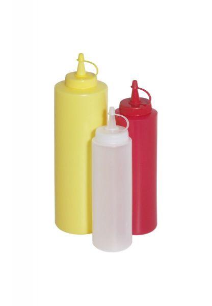 Quetschflasche rot 0,35l H: 21cm D: 5,5cm