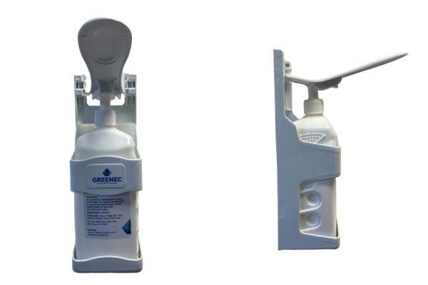 Desinfektionsspender 1l befüllt DERMASEPT HD, Wandbefestigung