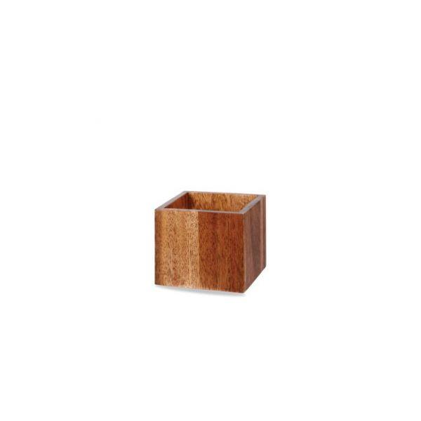 Buffet-Box Holz eckig 12x12cm ACACIA WOOD