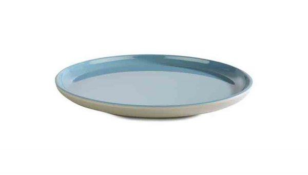 Teller ASIA PLUS D:19,5cm blau, grau