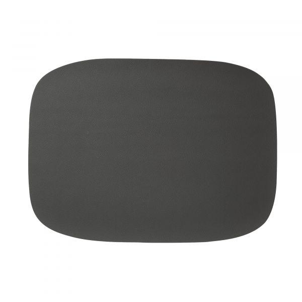 Tischset oval 33x45cm Kunstleder LAV anthrazit